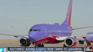 Southwest adding flights from Tampa to Laguardia - Video