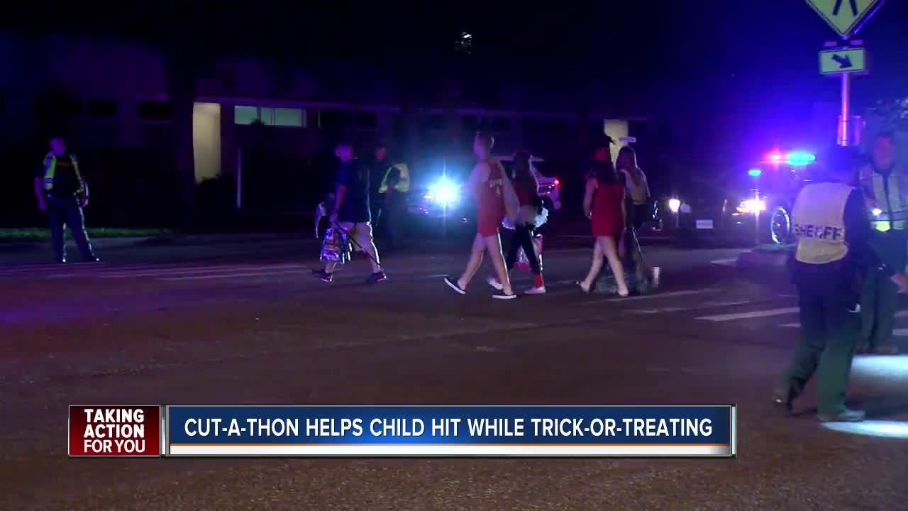Community comes together to help child hit while trick-or-treating