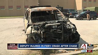 Cass County deputy seriously injured in fiery crash after chase