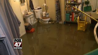 Residents frustrated with sewage backup - Video
