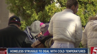 Homeless Struggle To Cope With Cold Temperatures
