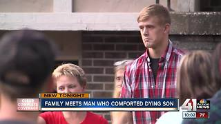 Family meets man who comforted son in final moments - Video