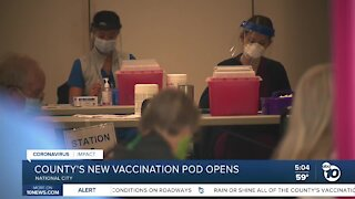 New COVID-19 vaccination pod opens in National City