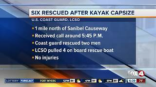 Six people rescued by the Coast Guard - Video