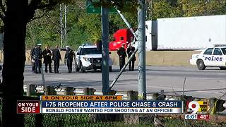 I-75 reopened after police chase and crash - Video
