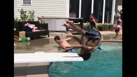 Kid Attempts Diving Board, Fails Epicly 😳