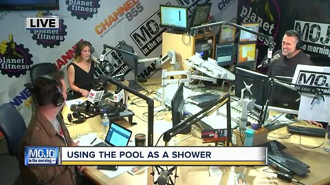 Using the pool as a shower? We discuss with Mojo in the Morning