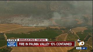 Fire breaks out in Pauma Valley - Video