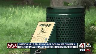 Mission Hills frustrated with people illegally dumping dog poop - Video