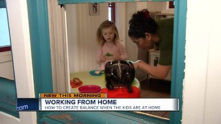 How to balance working from home with kids