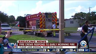Crews respond to fire in West Palm Beach - Video