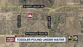 3-year-old child hospitalized after being pulled from a pool in Peoria