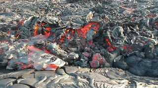 Drone Footage Shows Lava Flow at Kilauea Volcano in Hawaii - Video