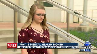 Teens speak openly about mental health struggles for Mental Health Month