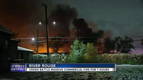 Fire finally extinguished at Downriver commercial building