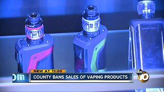 County bans sales of vaping products