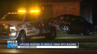Crash into AT&T substation in Ashwaubenon - Video