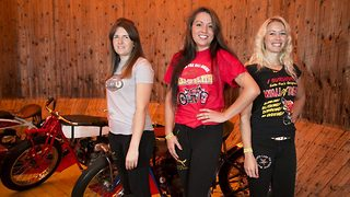 Real Charlie's Angels are only women in UK to perform death-defying stunt  - Video