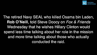 Navy SEAL Who Killed Bin Laden Derails Hillarys Campaign With Shock Claim - Video