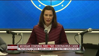 First cases of coronavirus confirmed in Michigan; Whitmer declares state of emergency