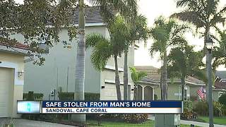 Safe stolen from home - Video