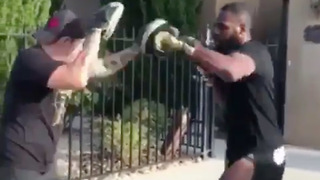 Jon Jones Trains for UFC Comeback in His Driveway - Video