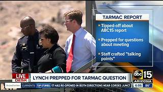 Loretta Lynch prepped for ABC15 tarmac question - Video