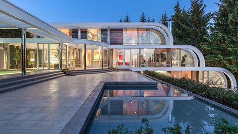 Glass and steel waterfall home looks like modern masterpiece and on the market for cool £10 million gbp