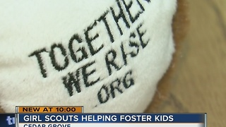 Girl Scouts helping foster kids - Video