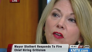Mayor Stothert addresses critics of Chief Appointment - Video