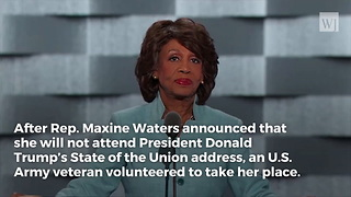 Maxine Waters to Skip 'Racist' Trump State of the Union, Black Vet's Reaction Goes Viral - Video
