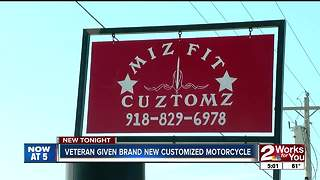 Motorcycle shop donates bike to local veteran - Video