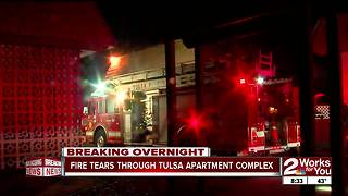 Memorial apartment fire - Video