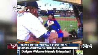 Super benji first pitch - Video