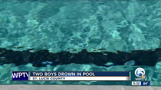 Two children drown in family pool - Video