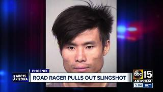 Man accused of using slingshot during Phoenix road rage incident - Video