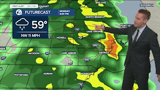 Metro Detroit Forecast: 60s all day with rain later today
