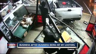 Business after business being hit by looters