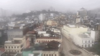Timelapse Shows Typhoon Hato Winds Sweeping Through Macau - Video