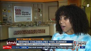 Three Square feeding hungry kids during summer - Video
