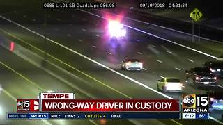 L-101 wrong-way driver stopped on city streets - Video