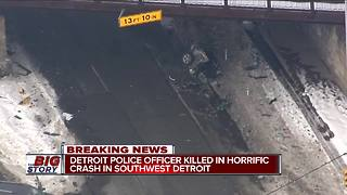 Detroit police officer dies after crash Thursday morning - Video
