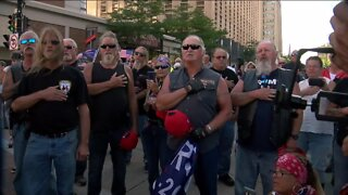 'Bikers for Trump' arrive in Milwaukee to support President Trump