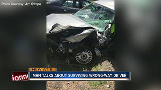 Pasco man survives head-on crash with wrong-way DUI driver - Video