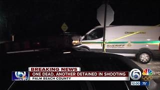 Man shot and killed, person in custody after incident near Loxahatchee - Video