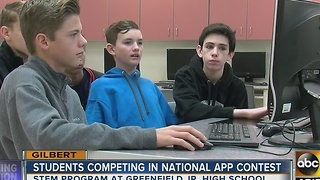 Gilbert students competing in national app contest