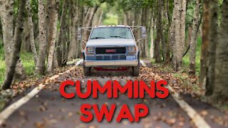 RIPPING the Engine Out of a GMC C3500HD for a CUMMINS SWAP [Part 3]