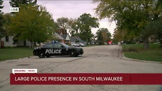 Large police presence in South Milwaukee