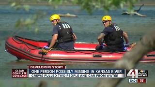 2 people pulled from Kansas River in Lawrence - Video