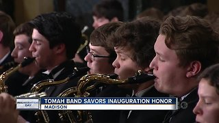 Tomah H.S. Band plays at inauguration